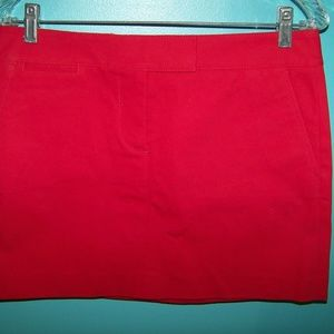 J. CREW Red Pencil Skirt, size 6